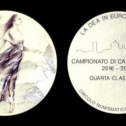 L'Atalanta danza e vola verso l'Europa Una medaglia dal Circolo numismatico