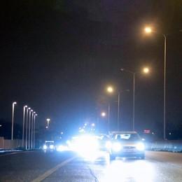 Sull'asse interurbano arrivano i led Mille nuove luci, un mese di lavori