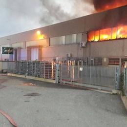 Incendio a Bonate, si contano i danni La foto a pochi passi dalle fiamme