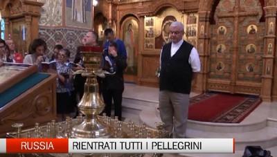 Rientrati dalla Russia i pellegrini bergamaschi