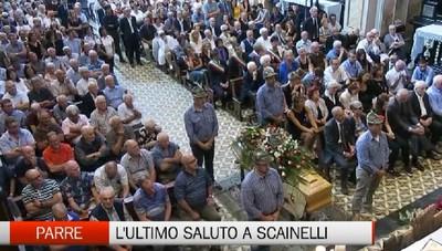 Parre si è fermata, tanta gente per l'addio a Giovanni Scainelli
