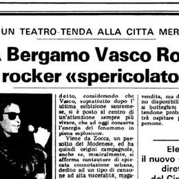 In seimila per il rocker «spericolato» Quando Vasco Rossi infiammò Bergamo