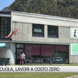 Ponte Nossa - La scuola rimessa a nuovo a costo zero