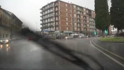 Bergamo, arriva il temporale