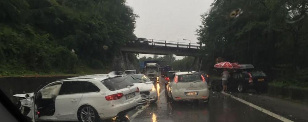 Incidente tra Seriate ed Albano Lunghe code sulla superstrada