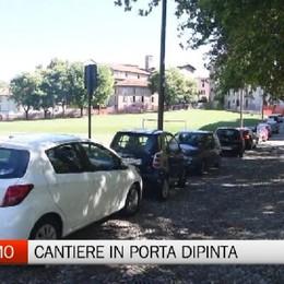 Bergamo, il cantiere di via di Porta Dipinta