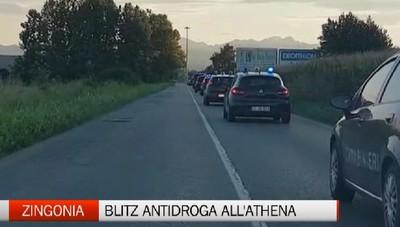 Zingonia - Blitz antidroga all'Athena 3