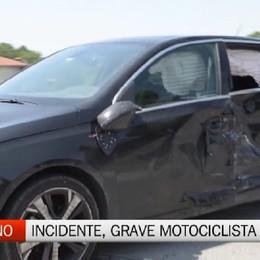 Incidente a Pognano, grave un motociclista 34enne