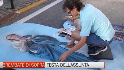 Madonnari protagonisti della festa delll'Assunta a Brembate Sopra