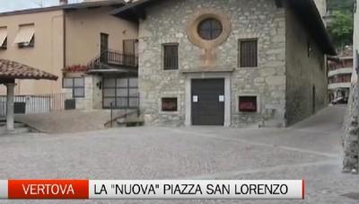 Vertova, la nuova piazza San Lorenzo