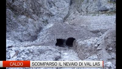 Troppo caldo, scompare il nevaio della Val Las