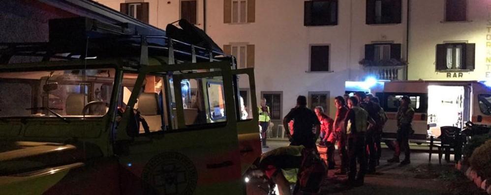 Ottantenne cade in una scarpata Soccorso e salvato in Val Taleggio