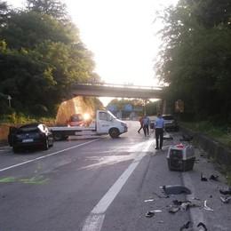 Incidente ad Albano Sant'Alessandro Sette feriti nello scontro tra tre auto