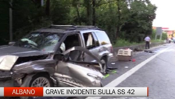 Albano - Grave incidente sulla SS42