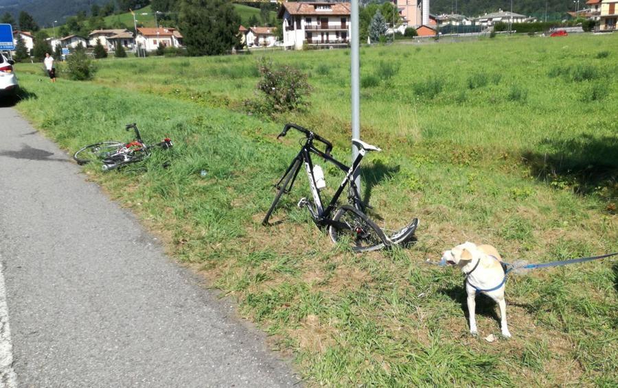 Investe due ciclisti e scappa - Foto/Video Clusone, si cerca l'auto in fuga