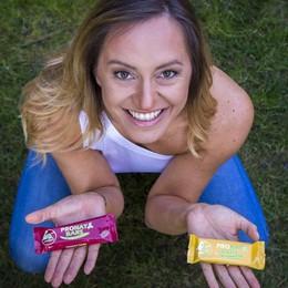 Sportiva, Sara s'inventa imprenditrice Da Predore le barrette vegetariane