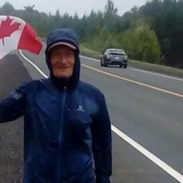 Battista, 75km di corsa al giorno Il bisnonno di Sedrina conquista il Canada