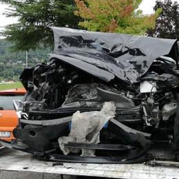 Ponte Nossa, tre feriti in un incidente Mattinata di lunghe code in Val Seriana