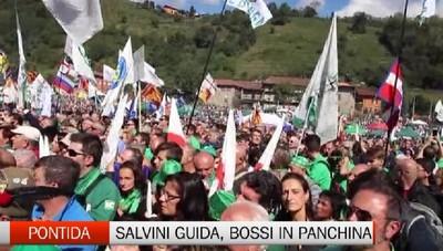 Pontida, Salvini chiama a raccolta il centrodestra