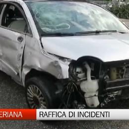 Val Seriana, raffica di incidenti stradali