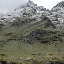 E le montagne tornano bianche Ecco la neve al Pizzo Coca