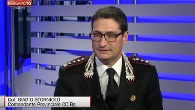 Il comandante dei Carabinieri Biagio Storniolo lascia Bergamo per Roma, il saluto alla città