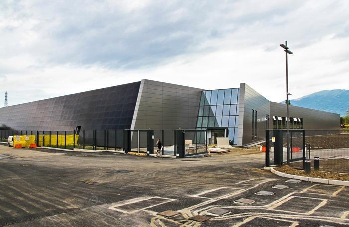 cantiere del maxi data center di Aruba a Ponte San Pietro