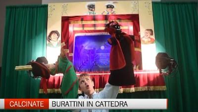 Cristian,14 anni,  un giorno in cattedra   È il più giovane burattinaio d'Italia