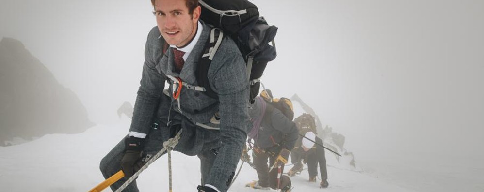 Scala il Monte Bianco in doppiopetto Da Carvico la moda di Traiano- Foto/video
