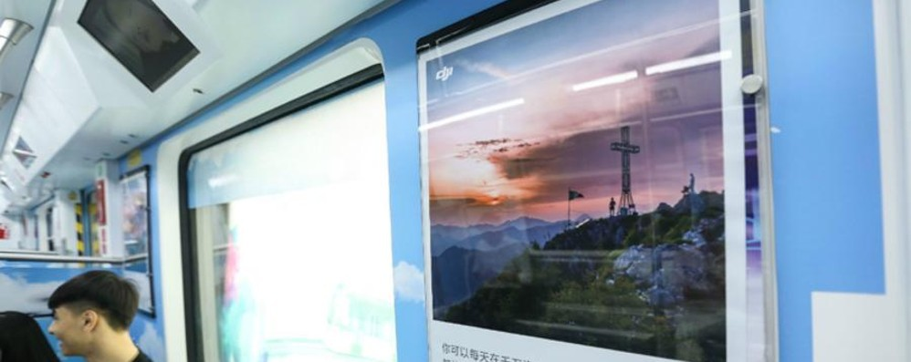 Il monte Cornagera sulla metro cinese? C'è lo zampino di un fotografo orobico