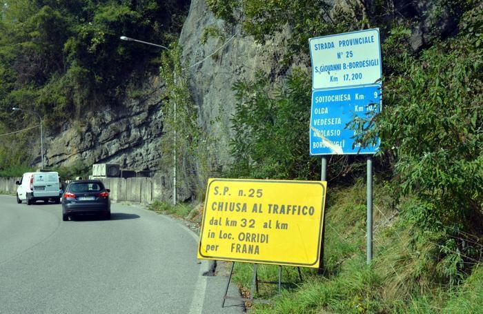 Strada chiusa, lo scatto risale al 26 settembre