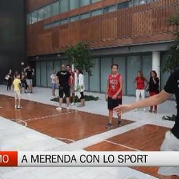 A merenda con lo sport all'Ospedale di Bergamo