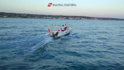 L'intervento della Guardia costiera