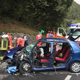 Scontro frontale a Villa d'Ogna Elisoccorso in azione, tre feriti