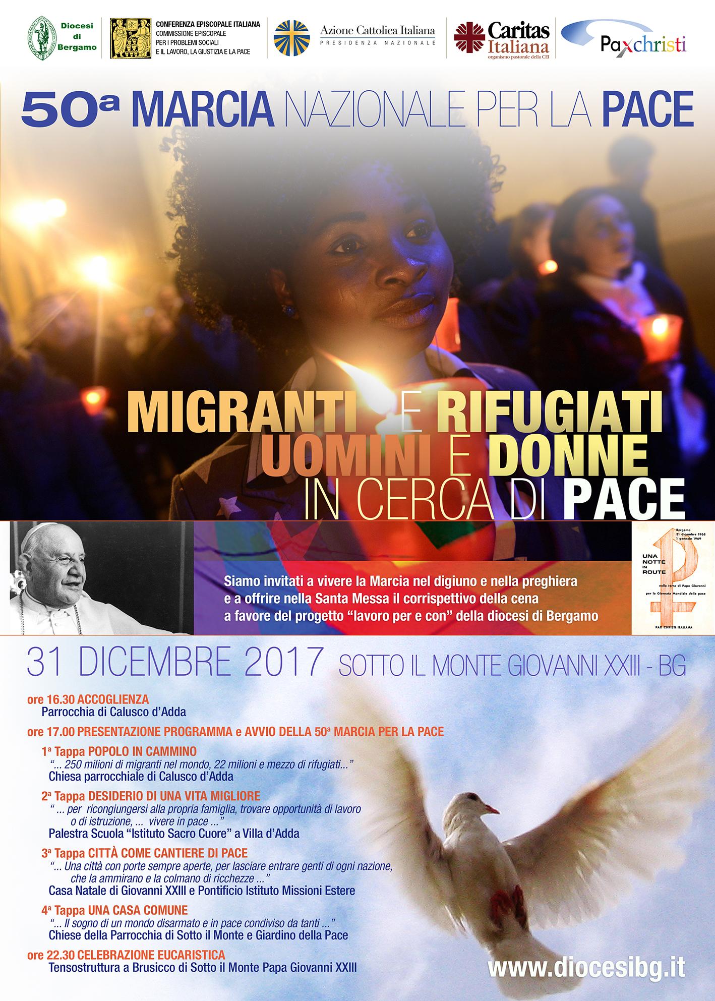 A Sotto il Monte Giovanni XXIII in marcia per la pace