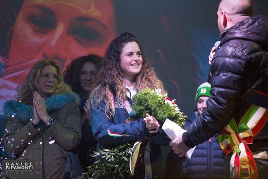 Grande festa per il rientro di Michela Moioli ad Alzano
