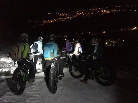 Festa della Donna in bicicletta nella neve