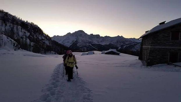 Weekend nella neve al rifugio Cristina