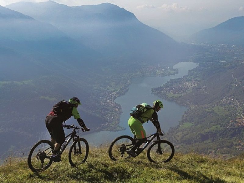 In mountain bike da Bergamo ai laghi  di Iseo e di Endine