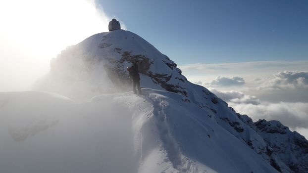 14.01.2018: Grignetta, Cresta Sinigaglia Invernale