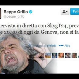 Grillo, in Tv i politici. Io mi rifiuto