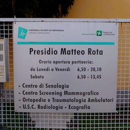 Il «Matteo Rota» è vuoto ma arrivano ancora pazienti