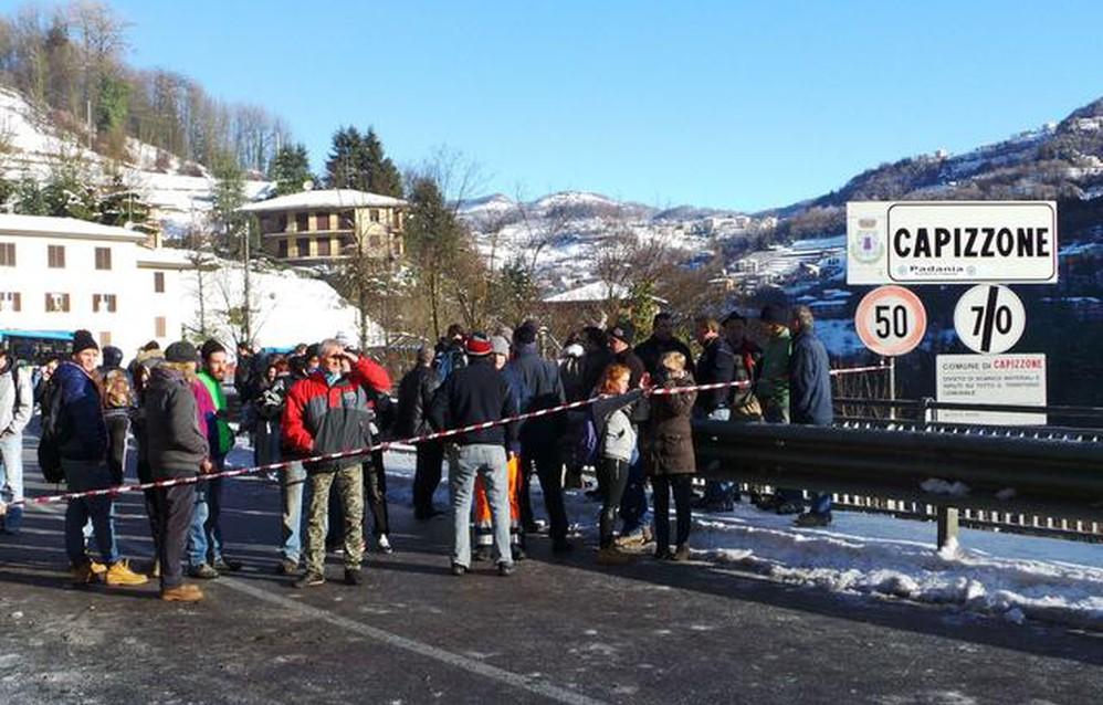 Tragedia sfiorata in Valle Imagna: le prime immagini ...
