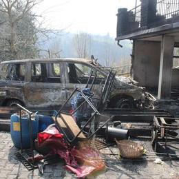 Tragedia sfiorata a Locatello: picchia cognata e brucia due auto
