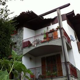 Gerosa, il tifone scoperchia i tetti In 10 secondi danni a 12 abitazioni