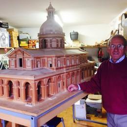 Caravaggio, modellista record  Rifà il santuario con 10mila pezzi