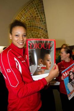 Valentina Diouf e il calendario 2014 della Foppa