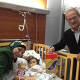 È riuscito l'intervento al cuore  La piccola Sarah torna a sperare