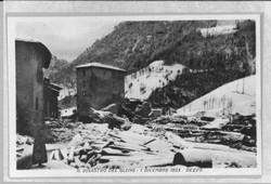 Dezzo di Scalve dopo il crollo della diga del Gleno