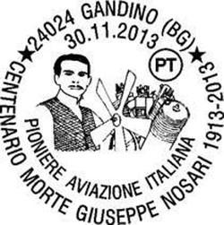 Giuseppe Nosari, l'annullo postale